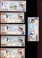 THMS LOTERIE Lot De 6 Billets Ailes Brisées Marins Aviateurs - Billets De Loterie