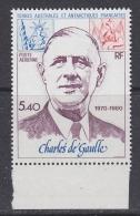 TAAF 1980 Charles De Gaulle 1v  ** Mnh (F5402C) - Luchtpost