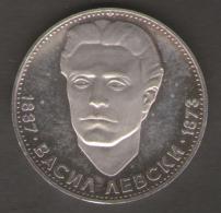 BULGARIA 5 LEBA 1973  CENTENNIAL DEATH OF VASIL LEVSKI AG SILVER - Bulgaria