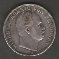 Germany Prussia Thaler 1867 Wilhem Ag Silver - Taler Et Doppeltaler