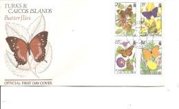 Papillons ( FDC Des Turks Et Caiques De 1982 à Voir) - Schmetterlinge