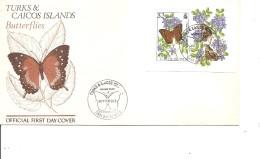 Papillons ( FDC Des Turks Et Caiques De 1982 Avec BF à Voir) - Schmetterlinge