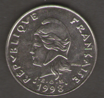 POLINESIA FRANCESE 20 FRANCS 1998 - Polinesia Francese
