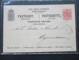 Finnland 1889 Ganzsache P 23 II Interessante Stempel?! - Storia Postale