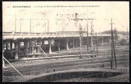 """SCHAERBEEK - SCHAARBEEK -  Le Pont Du Boulevard Militaire Au Dessus De La Gare De Schaerbeek - Pub """" AU  PHARE """" Verso! - Schaarbeek - Schaerbeek"""