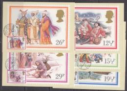 Great Britain 1982 Christmas  5v 5 Maxicards (31193) - Maximumkaarten