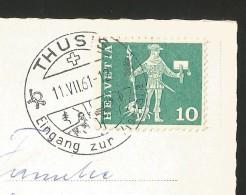 THUSIS GR Eingang Zur Viamala Stempel ! 1961 - GR Grisons
