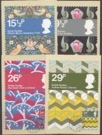 Great Britain 1982 British Textiles 4v 4 Maxicards (31194) - Maximumkaarten