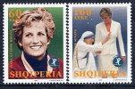 ALBANIA 1998 Princess Diana Commemoration Set Of 2  MNH / **.  Michel 2660-61 - Albania