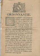 Document Illustré En 7 Pages - Ordonnantie 1794 S' Lands Van Den Vryen / BRUGGE --  WW861 - 1714-1794 (Austrian Netherlands)