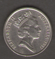 AUSTRALIA 5 CENTS 1987 - Moneta Decimale (1966-...)