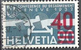 """Aufdruck """"40"""" Von 1936: Zu Flug 24 Mi 293 Yv PA24 Mit O BASEL ?.X.37 (Zu CHF 30.00) - Poste Aérienne"""