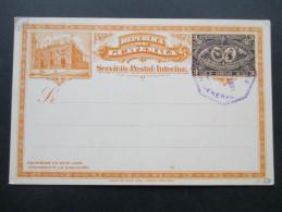 Guatemala 1897 Ganzsache Blanko Mit Stempel. Ungelaufen! - Guatemala