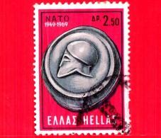 GRECIA - HELLAS - Usato - 1969 - 20° Anniversario Della NATO - Elmetto - Monete - N.A.T.O.  - 2.50 - Grecia