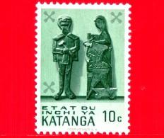 KATANGA  - Usato - 1961 - Sculture Lignee Del Katanga - Famiglia - 10 - Katanga