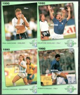 Bhutan 1991 History Of World Cup Football Soccer Sc 1043-48 6 M/s Set MNH # 7943 - Bhutan