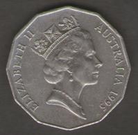 1995 Australia 50 Cents (Weary Dunlop) - Moneta Decimale (1966-...)