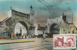 D24401 CARTE MAXIMUM CARD FD 1954 TUNISIA - GATE BAB-EL-KADRAH CP ORIGINAL - Architecture