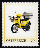 ÖSTERREICH 2013 ** POST - Piaggio Lyberty 50 Elektro Moped - PM Personalisierte Marke MNH - Post