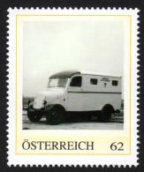 ÖSTERREICH 2013 ** POST Bus, Elektro Paketwagen BERGMANN Von 1941 - PM Personalisierte Marke MNH - Post