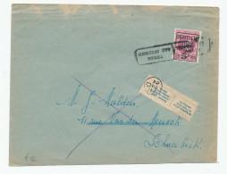 Lettre TP Houyoux PREO-POSTE Bruxelles 1929 Vers SCHAERBEEK - Etiq. N´habite Plus Et Griffe RETOUR   --  WW872 - 1922-1927 Houyoux