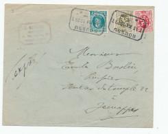 Lettre EXPRES TP Houyoux Cachet Télégraphique BOUSSU TT 1929 Vers Télégraphique JEMAPPES  --  WW874 - 1922-1927 Houyoux