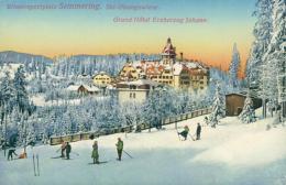 AT SEMMERING / Grand Hotel Erzherzog Johann, Ski Ubungswiese / - Semmering