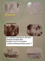 Lot De 6 Photos De Batz -Bourg De Batz (5 Noté Au Dos)  (44 Loire Atlantique ) Années 1895-1898 - Sonstige