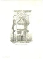 Planche Troyes (10) La Petite Porte De L'Eglise De La Madeleine à Troyes éditions De Sancey - Vieux Papiers