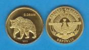 "NAGORNO  KARABAKH  5 DRAM 2.013  2013 ""OSO-BEAR"" Latón-Brass   SC/UNC  T-DL-10.772 - Nagorno-Karabakh"