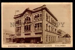 CELYLON SRI LANKA VICTORIA HOTEL COLOMBO ADVERTISING Vintage Original Ca1900 POSTCARD  (W4_3092) - Hoteles & Restaurantes