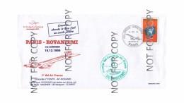 Air France First Concorde Flight Cover Paris (France)-Rovaniemi (Finland) 19.12.99 Vv - Brieven En Documenten