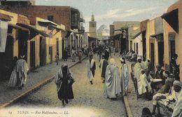 Tunis - Rue Halfaouine - Carte LL Colorisée N°14, Non Circulée - Tunisia