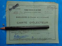 Carte D'electeur Bailleurs A Ferme Et A Colonat - Maps