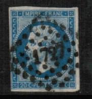 FRANCE   Scott # 15 VF USED - 1853-1860 Napoleon III