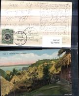 281366,Panama View Of A Native Town Strohdachhäuser - Panama