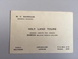 16M/1 - V Marroum Général Manager Jordan Sabena - Visiting Cards
