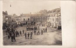 CP Photo Aout 1917 GRANDPRE - Place Carnot, Une Fanfare Allemande, Concert (A151, Ww1, Wk 1) - Francia