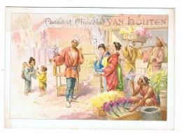 CHROMOS Cacao Et Chocolat Van Houten Scene Japonaise Num 3 - Van Houten