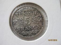 Tunisie: 5 Francs 1355 - 1936 - Tunisie