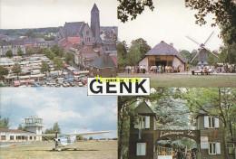 CPSM BOEKJE 7 POSTKAARTEN CARNET GENK  LIMBURGSE ZOO MARKT BOKRIJK VLIEGVELD CVP GENK - Genk