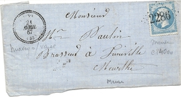 Meuse - Maxey Sur Vaise - GC + CàD Perlé Type 22 - Marcophilie (Lettres)
