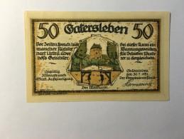 Allemagne Notgeld Gatersleben 50 Pfennig 1921 NEUF - Germany