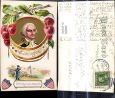 269002,Präge Ak Washington Portrait Politiker USA Kirsche Spruch - Geschichte