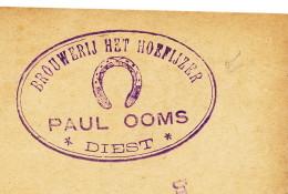 BRASSERIE Belgique - Entier Postal Germania DIEST 1916 Censure Dito - Brouwerij Het Hoefijzer  --  WW884 - Bières