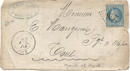 Meurthe - Baccarat Pour Toul. GC + CàD Type 17 - Marcophilie (Lettres)