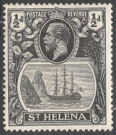 St Helena. 1922-37 KGV. ½d MH. SG 143 - Saint Helena Island