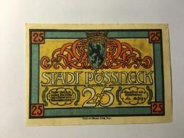 Allemagne Notgeld Possneck 25 Pfennig 1921 NEUF - Zonder Classificatie