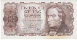 ÖSTERREICH 500 Schilling Banknote Von 1965 Pick 139 Fast Nicht Gebraucht Siehe Scan - Austria