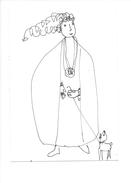 14996 - Dessin De Rose-Marie Eggmann Artiste Genevoise Signé   Femme  Et Chien - Dessins